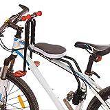 YXZN Mountain Bike Seggiolino per Bambini Anteriore Sgancio rapido Bicicletta Seggiolini per Bambini Sicuro Comodo Portamento capacità Fino a 50 kg,Black,41X42CM