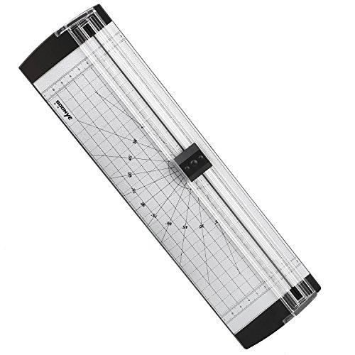 Cobee Papierschneidemaschine Schnittlänge 300mm A4 A5 Silber Schwarz für Kunsthandwerk Home Office