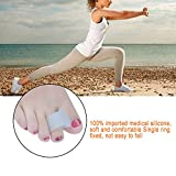 Toe Spacers Gel Silicone Toe Separators Toe Spreaders Bunion Corrector Toe Stretcher Gel for Men and Women Pack of 4 (2 pairs white toe separator)