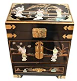 Negro-con-madre-perla-Lacado-Joyero-Oriental-Muebles-China