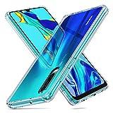 ORNARTO Crystal Clear Cover Huawei P30, Custodia Trasparente Protettiva in Vetro Temperato 9H [Cristallina][AntiGraffio] + Cornice Paraurti in Silicone Morbido [Antiurti] per Huawei P30(2019) 6.1'