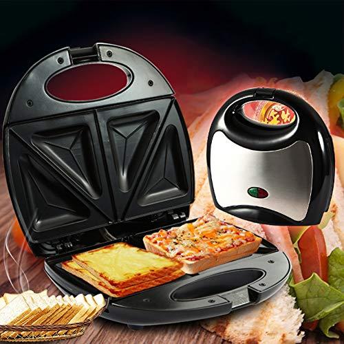 0Miaxudh Sandwich-Toaster, elektrischer Sandwich-Maker, der Toaster grillt, Multifunktionsküche-Frühstücks-Brotmaschine 700W(Dreieck sterben KJ-102)