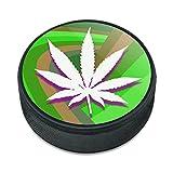 Marijuana Leaf Topf Weed Psychedelic Eishockey Puck