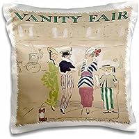 Taiche - Vintage Posters - Vanity Fair - Vanity Fair- caricature, women, fashion, gossip, celebrities, magazine, historical, dog - 16x16 inch Pillow Case - Celebrity Magazine
