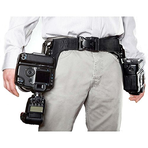 Spider Pro SCS Single Camera System Holster Hüft-Tragesystem (Hüftgurt, Kameragurt, Tragegurt, Halfter) für 2 DSLRs mit Objektiv - für alle DSLR, auch Profimodelle mit großen Objektiven