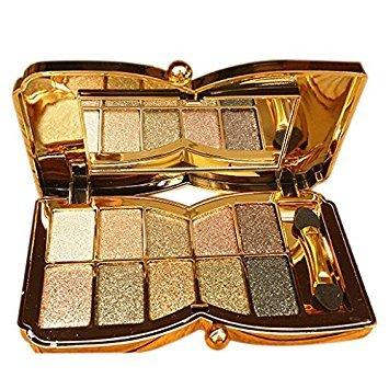 Fard a paupieres 6# - TOOGOO(R)Diamant brillant colore fard a paupieres super kit de maquillage Flash Palette de Fard a paupieres avec une brosse (6#)