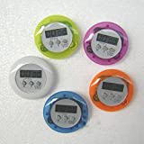 Mini Round LCD Digital Cooking Home Kitchen Count Down UP Timer Alarm,battery installed