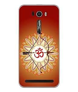 PrintVisa Designer Back Case Cover for Asus Zenfone Selfie ZD551KL (Power Shape Flower Abstract Religion Ohm Illustration)