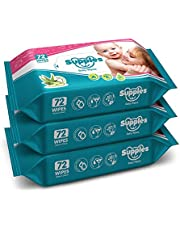 Supples Baby wipes 72 pcs (pack of 3)