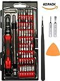 PREMIUM 62-in-1 Professionale Set di cacciavite di precisione con 56 bit magnetici - Kit di strumenti di riparazione per iPhone X, 8, 7 e sotto/cellulare/Computer/Tablet/Xbox/PlayStation
