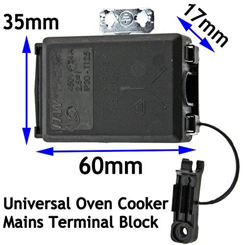 Spares2go Universal Ofen Herd Mains Terminal Block/Abzweigdose Universal Junction Block