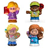 Fisher-Price Little People Figures (4 PACK) Baby & Toddler Toys - Veterinarian, Artist, Crossing Guard, Librarian