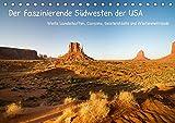Der faszinierende Südwesten der USA (Tischkalender 2019 DIN A5 quer): Weite Landschaften, Canyons, Geisterstädte und Wüstenmetropole (Monatskalender, 14 Seiten ) (CALVENDO Orte)