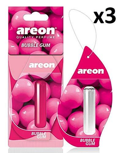fterfrischer Bubble Gum Duft Autoduft Kaugummi Rosa Duftflakon Parfüm Flakon Aufhängen Hängend Anhänger Spiegel Set 5ml 3D (Bubblegum Pack x 3) ()