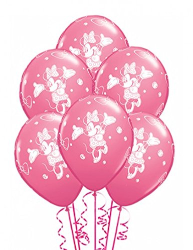 Qualatex 44047 Disney Minnie Mouse - Globos redondos de látex, color rosa, 30,5 cm