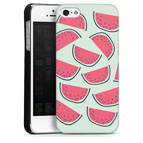 """artboxONE Handyhülle Apple iPhone SE, Weiß Sideflip-Case Handyhülle """"Über Melonen Case"""" - Rock the kitchen - Smartphone Sideflip Case mit Kunstdruck von Michaela Merzenich Hard Case schwarz"""