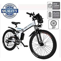 """Hiriyt Vélo Electrique 26"""" E-Bike - VTT Pliant 36V 250W Batterie au Lithium de Grande Capacité - Ville léger Vélo de avec moyeu Shimano 21 Vitesses"""