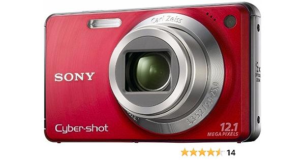 Sony Dsc W270r Digitalkamera 2 7 Zoll Rot Kamera