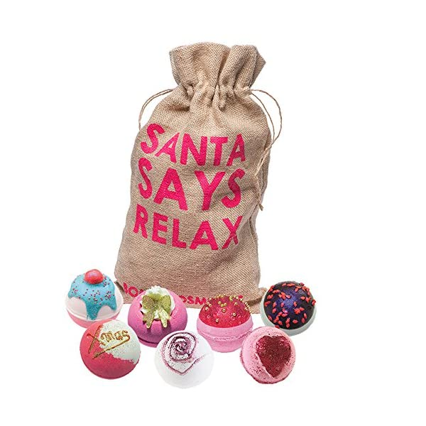 Bomb Cosmetics Santa Says Relax Handmade Hessian Bath Blaster Gift Pack [Contains 7-Pieces], 1.1kg 51b5BYuyLgL