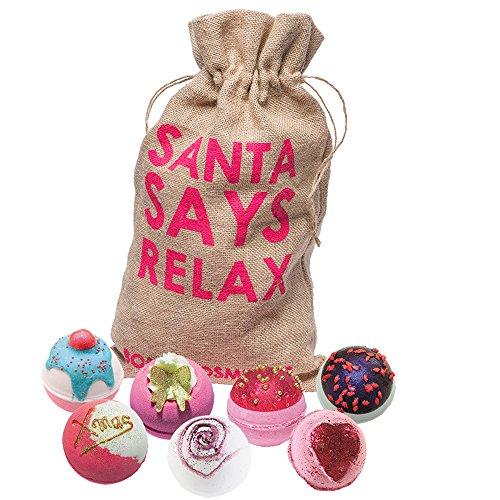 Bomb Cosmetics Santa says relax fatto a mano in iuta, confezione regalo