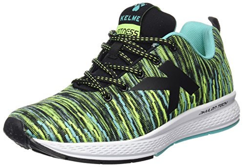 Kelme 63212, Sneaker Unisex - Adulto, Multicolore (Negro / Verde), 40 EU