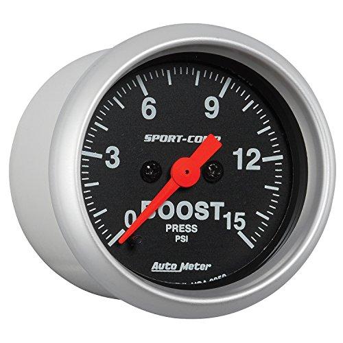 Preisvergleich Produktbild Auto Meter 3350 2-1/16 S/C Boost Gauge 0-15 PSI