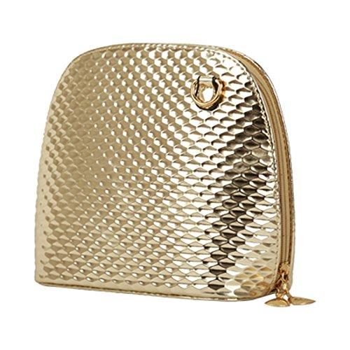 crossbody borsa - SODIAL(R)criss casuale croce piccolo guscio signore frizione donne della borsa del partito di sera spalla borsa borse crossbody Nero Oro