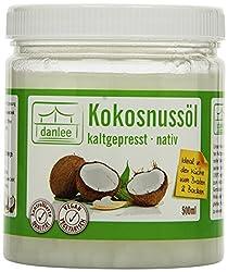 Danlee Kokosnussöl, kaltgepresst - nativ, 1er Pack (1 x 500 ml)