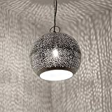 Orientalische Lampe Jandra Deckenlampe Silber Indische Hngelampe Orientlampe