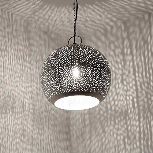 albena shop 71-0190 Jandra orientalische Lampe silber ø 30cm/H 24cm