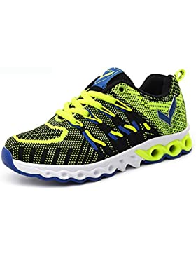 ASHION Kinder Schuhe beiläufige Turnschuhe schuhe bequeme breathable Kinder sports Schuhe (verde, 33 EU)