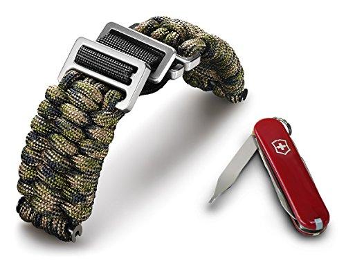 Victorinox I.N.O.X Paracord Armband Grün-Camouflage 60023