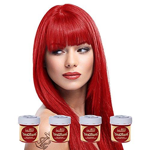 La Riche Directions Haartönung, mittlere Haltbarkeit, verschiedene Farben erhältlich, 88ml, 4Packungen -