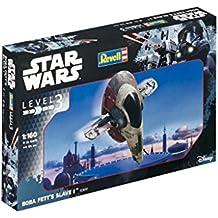 Revell Maqueta de Star Wars Boba Fett 's Slave I en escala 1: 160, nivel 3, réplica exacta con muchos detalles, fácil pegar y para pintarlas, 03610