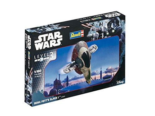 Revell Modellbausatz Star Wars Boba Fett's Slave I im Maßstab 1:160, Level 3, originalgetreue Nachbildung mit vielen Details, einfaches Kleben und Bemalen, 03610