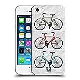 Head Case Designs Imprimé Simplement Vélos Rétros Étui Coque en Gel molle pour Apple iPhone 5 / 5s / SE