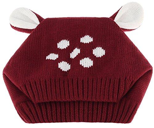 La Vogue Bonnet Tricoté Crochet Motif Lapin Tour De Cou Bébé Tour De Tête  48- e9a61099185