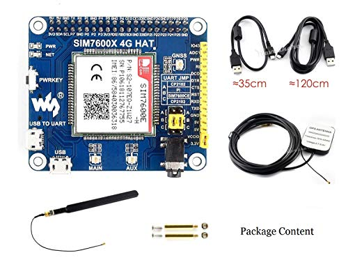 IBest 4G / 3G / 2G / gsm/GPRS/GNSS Hat for Raspberry Pi, Based on  SIM7600E-H, Support LTE CAT4 for Downlink Data Transfer, 4G Connection,  Making Call,