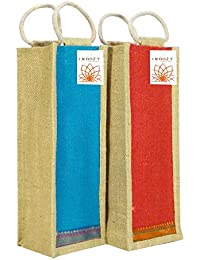 Jute Bottle Carry Bags | Reusable and Eco-Friendly | Combo by INDOZY
