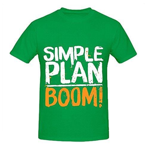 Simple Plan Boom Tour Funk Herren Crew Neck Custom Shirt Large
