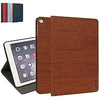 iPad Mini 4 Custodia, MTRONX Smart Cover Case Peso Leggero Ultra Sottile Foglio Multi-Angolo PU Pelle Copertura Auto Sonno / Sveglia per Apple iPad Mini 4 - Marrone (WS-BN)