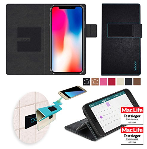 Handyhülle Case Cover Tasche Etui u.a. für Apple Iphone X/ 8 Google Pixel 3 Fly Champe LG X Style - Wandhalterung, KFZ-Halterung, Tischaufsteller, Schutzhülle, Anti-Gravity Hülle - reboon booncover XS