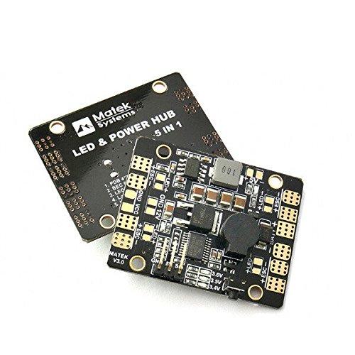 Frontier Matek LED & POWER HUB 5in1 V3 Stromversorgungsplatine + BEC 5V 12v + Low Voltage Alarm + Tracker