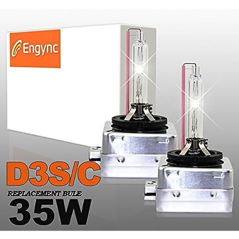 Engync® D3S OEM xenón HID bombillas de los faros (Pack de 2) | Alto / Bajo la luz blanca con un color azul tinte (8000K)