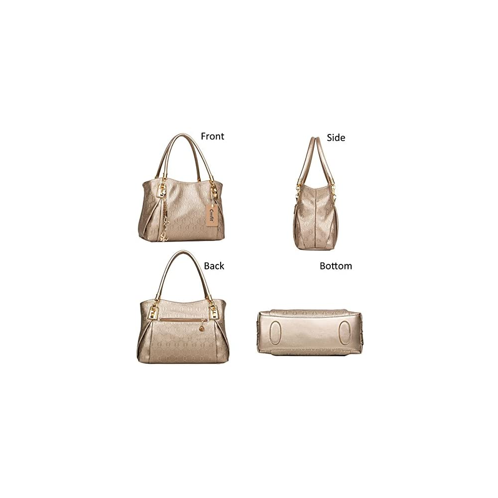 Di Grazia Women s Synthetic Gold 3 In 1 Combo Of Shoulder Bag ... ab521f6028bbf