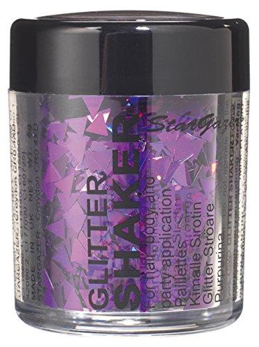 Stargazer en forme de paillettes, Violet Triangle. Cosmétique Gliter formes qui peut être utilisé sur le visage ou le corps.