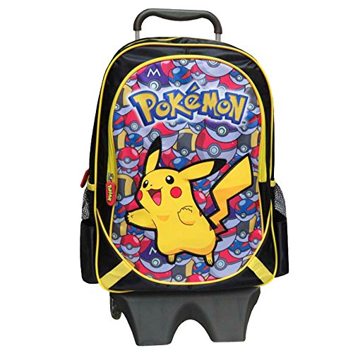 "Pokemon Pikachu mc-231-pk 43 cm ""carrello con rimovibile con Pokeballs"" zaino"