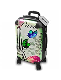 Colección 141, Custom Maleta Rigida Equipaje con 4 Ruedas de 360° Spinner Trolley Hand Case Shell Cover Trolley Travel Bag