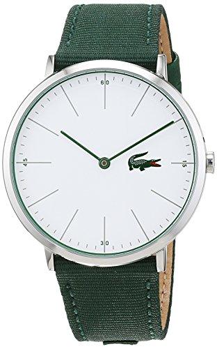 Lacoste Herren Datum klassisch Quarz Uhr mit Stoff Armband 2010913