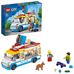 LEGO City Great Vehicles Furgone dei Gelati con 2 Minifigure e 1 Cane, Più 1 Serie di Accessori, Set di Costruzioni per… 5702016617870 LEGO